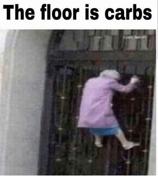 keto meme - Text - The floor is carbs Qcaro fuskugie