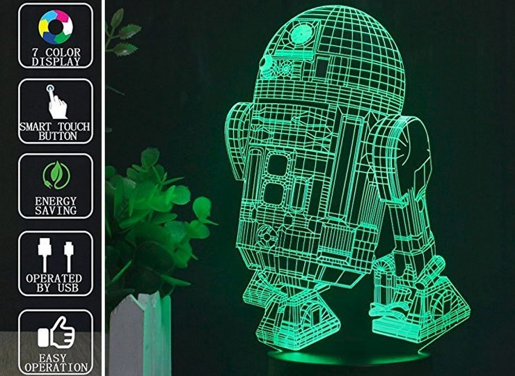 Green - 7 COLOR DIŠPLAY SMART TOUCH BUTTON ENERGY SAVING OPERATED BY USB EASY OPERATION