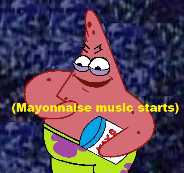 Cartoon - (Mayonnaise music starts) M