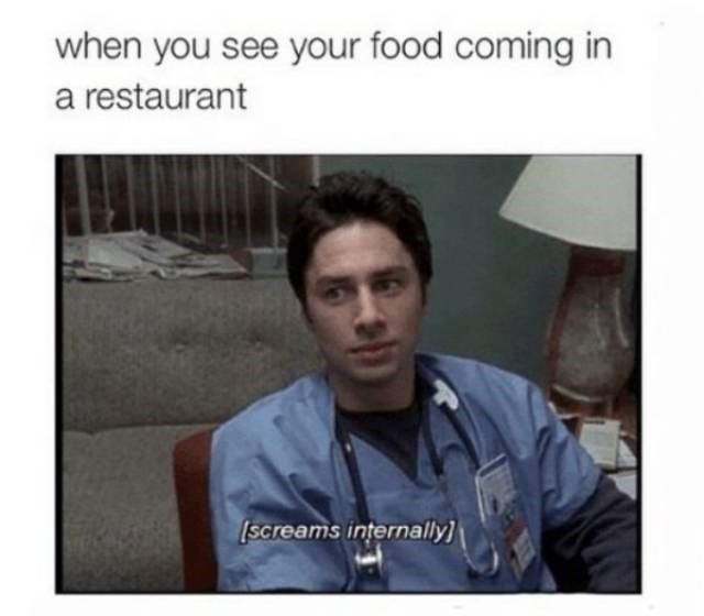 Photograph - when you see your food coming in a restaurant [Screams internally]