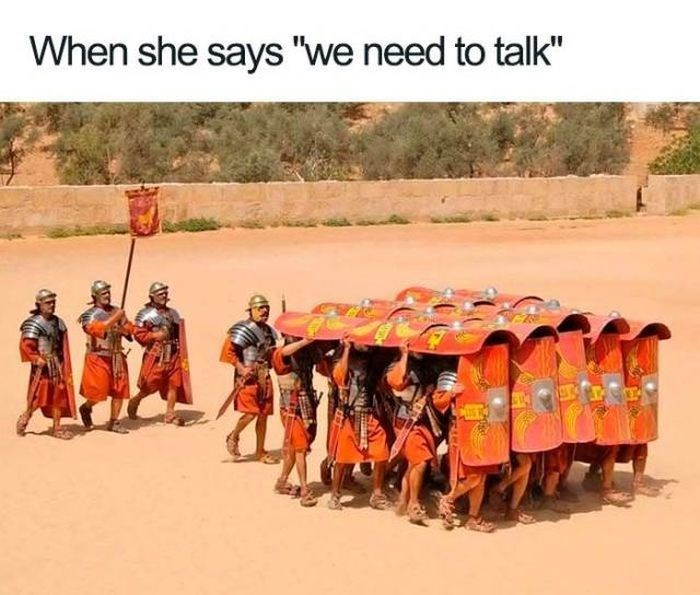 """People - When she says """"we need to talk"""""""