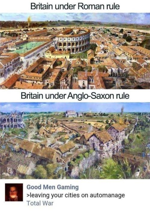 Historic site - Britain under Roman rule Britain under Anglo-Saxon rule Good Men Gaming >leaving your cities on automanage Total War