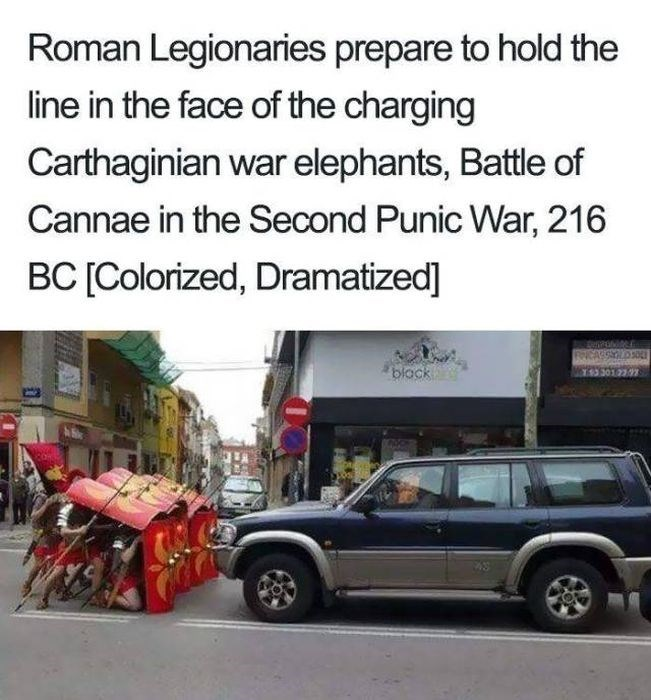 Land vehicle - Roman Legionaries prepare to hold the line in the face of the charging Carthaginian war elephants, Battle of Cannae in the Second Punic War, 216 BC [Colorized, Dramatized] REARGYD black 301 22 7