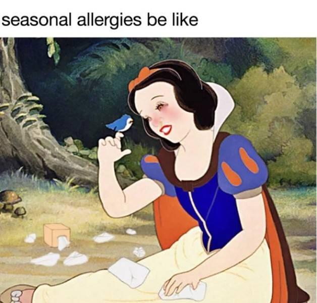 Animated cartoon - seasonal allergies be like Co