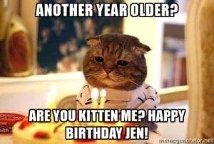 happy birthday sad cat