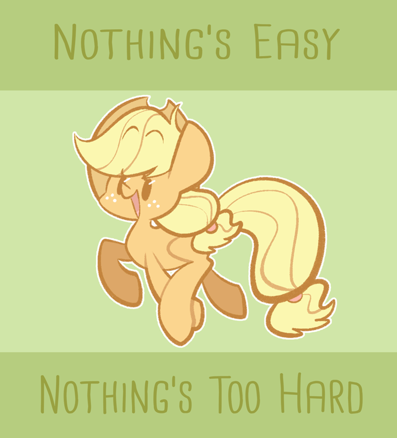 motivational typhwosion applejack support ponies - 9201796608