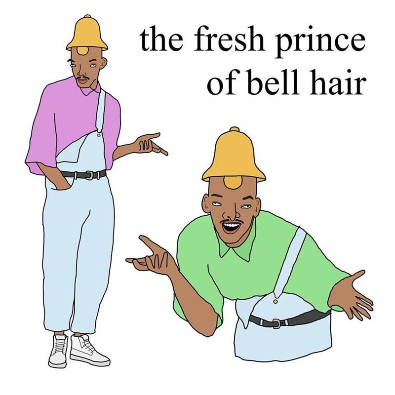 Cartoon - the fresh prince of bell hair