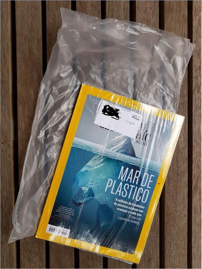 National Geographic magazine dedicated to raising awareness to plastic waste is wrapped in a plastic cover itself