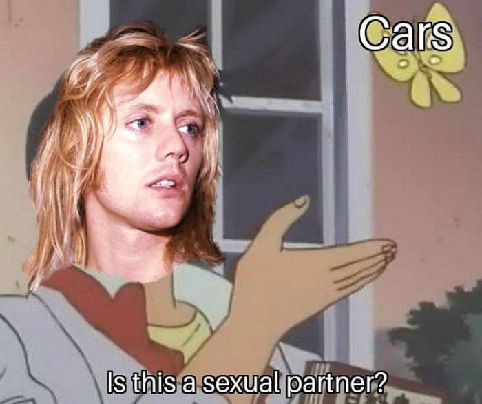 """meme about queen and cars being """"sexual partners"""""""