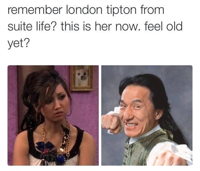 Face - remember london tipton from suite life? this is her now. feel old yet?