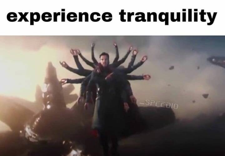 Marvel Meme with Dr. Strange with multiple pairs of hands around him
