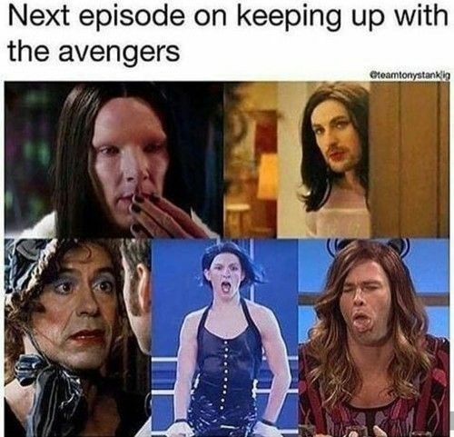 Marvel Meme characters compared to Keeping Up with the Kardashians