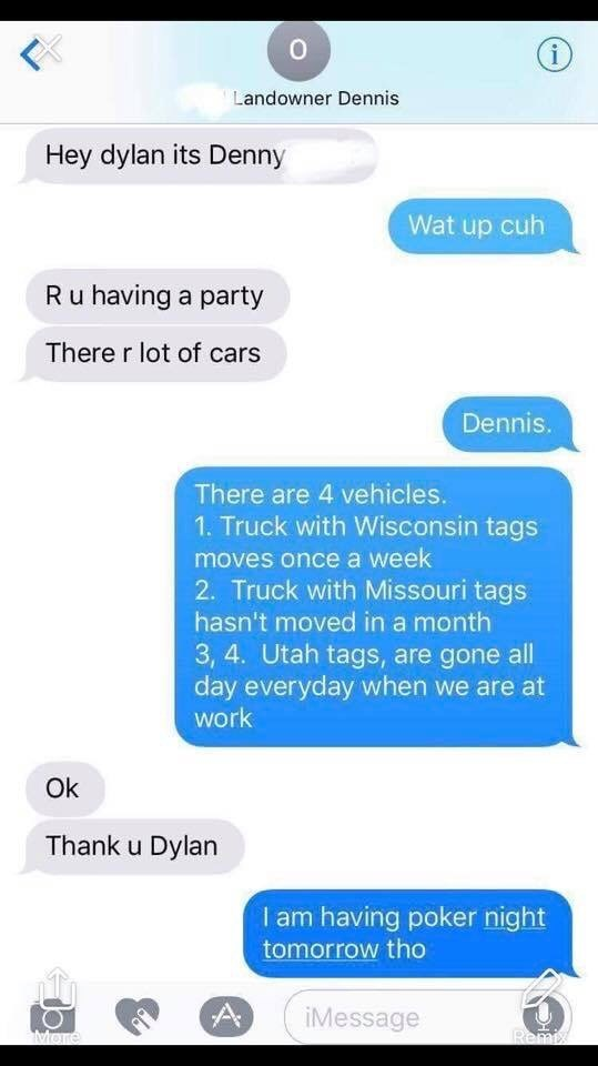Landlord Meme complaining to his tenant about having a party because they're lots of cars