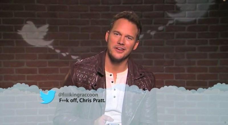 Forehead - @f kingraccoon F**k off, Chris Pratt.
