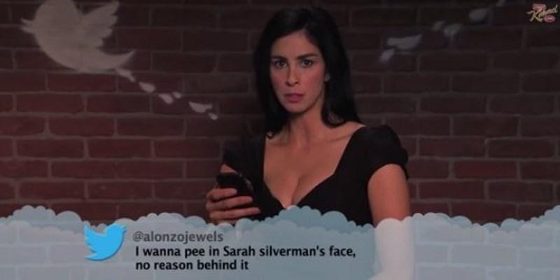 Lady - R @alonzojewelsarah silverman's face, I wanna pee in