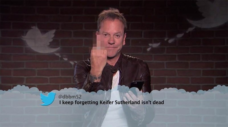 Facial expression - @dbbm52 I keep forgetting Keifer Sutherland isn't dead