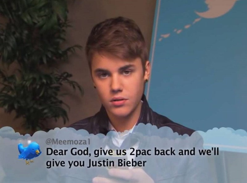 Forehead - @Meemozal Dear God, give us 2pac back and we'll give you Justin Bieber