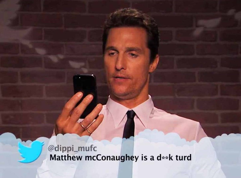 Forehead - @dippi_mufc Matthew mcConaughey is a d**k turd