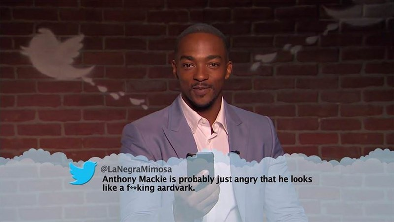 Photo caption - @LaNegraMimosa Anthony Mackie is probably just angry that he looks like a faking aardvark.