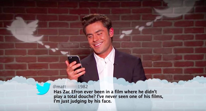 Text - 1982 @matt Has Zac Efron ever been in a film where he didn't play a total douche? I've never seen one of his films, I'm just judging by his face.
