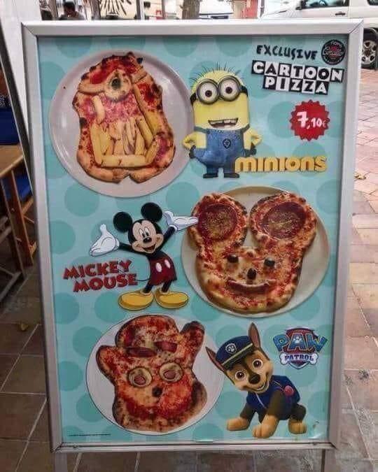 Meal - гхаugtVE CARTOON PIZZA 4,10 Mnons MICKEY MOUSE PATRO