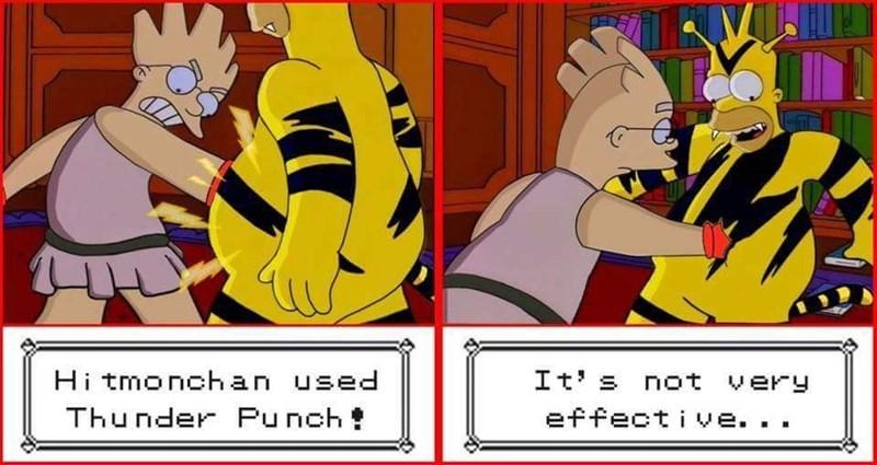Cartoon - It's not very Hi tmonchan used Thunder Punch effective ..