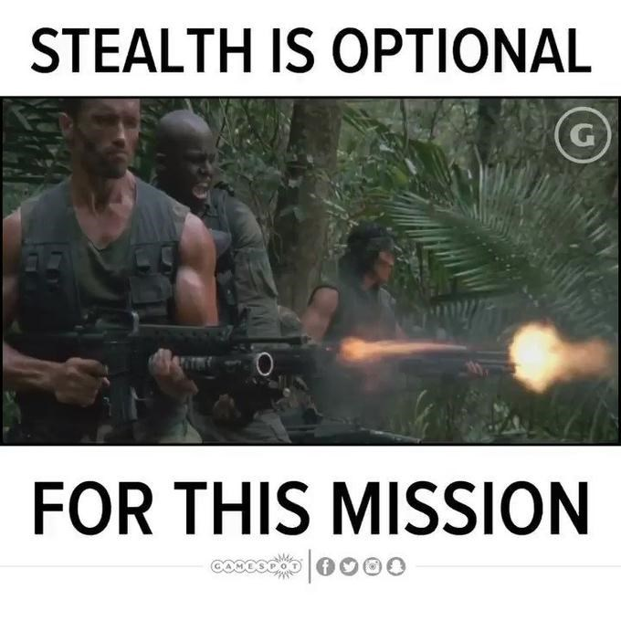 Photo caption - STEALTH IS OPTIONAL G FOR THIS MISSION
