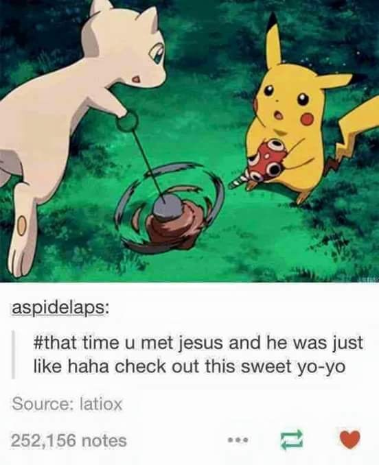 Cartoon - aspidelaps: #that time u met jesus and he was just like haha check out this sweet yo-yo Source: latiox 252,156 notes