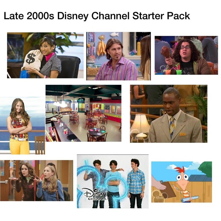 starter pack for late 2000s disney channel