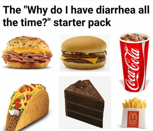 starter pack people who eat fast food all the time