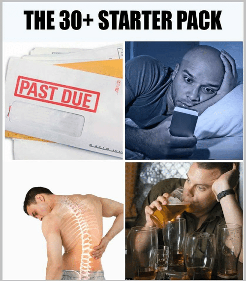 starter pack for people over the age of 30