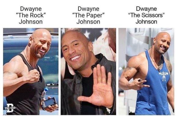"Bodybuilding - Dwayne ""The Rock"" Johnson Dwayne ""The Paper"" Johnson Dwayne ""The Scissors"" Johnson THE DAD"