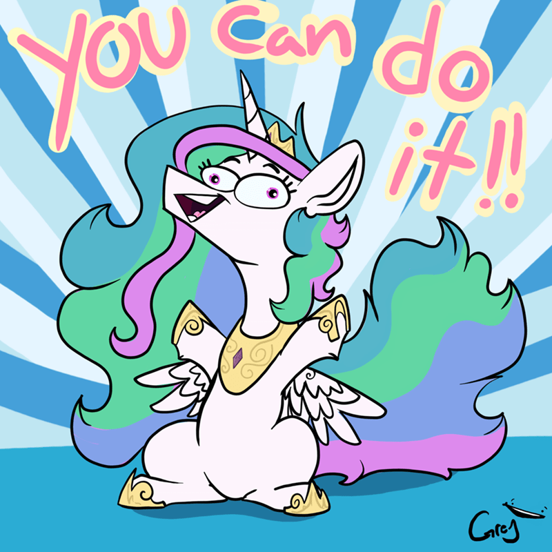 motivational princess celestia greyscale - 9203569664