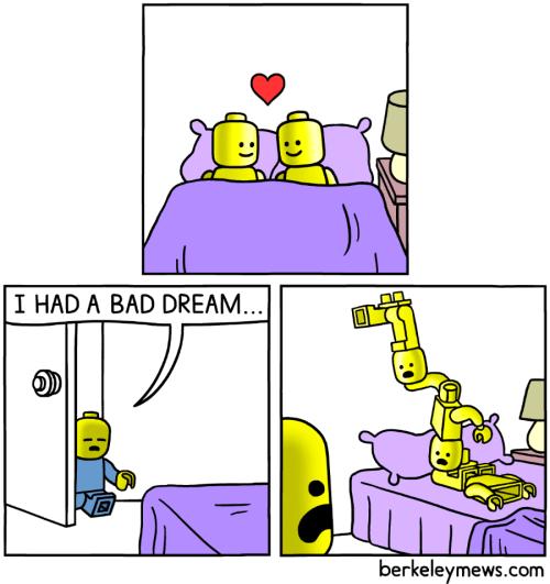 Cartoon - I HAD A BAD DREAM.. berkeleymews.com M