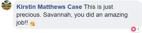 Text - Kirstin Matthews Case This is just precious. Savannah, you did an amazing job! 1