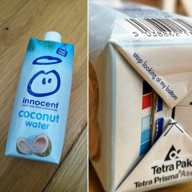 Dairy - 38862 fresh taste innocent never ever from concentrate COconut water Tetra Pak Tetra PrismaAse stop looking at my bottom