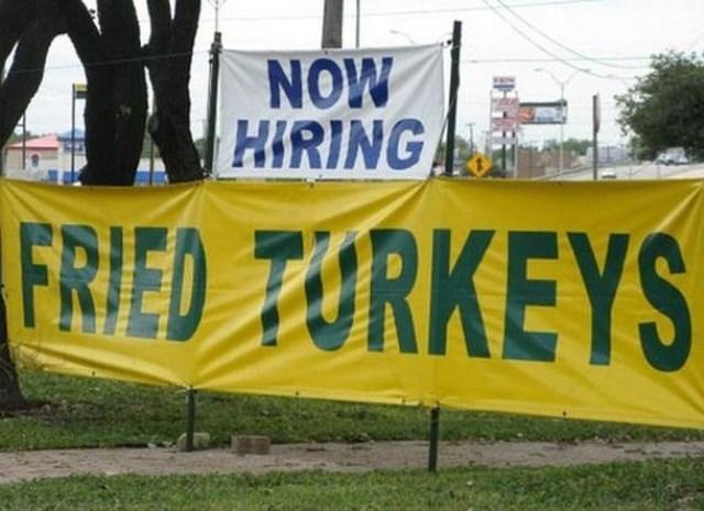 Banner - NOW HIRING FRIED TURKEYS