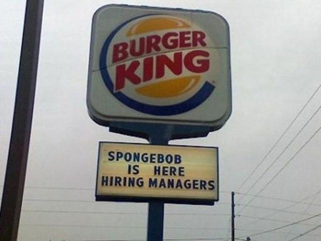 Motor vehicle - BURGER KING SPONGEBOB IS HERE HIRING MANAGERS