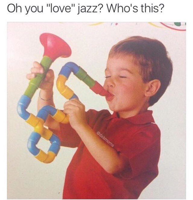 Sunday meme of a kid playing an instrument