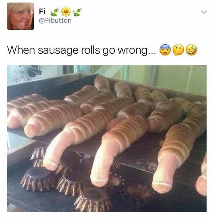 sunday meme of pigs in a blanket that have gone wrong