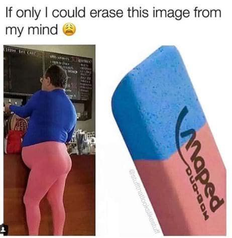 sunday meme of a persons outfit resembling an eraser