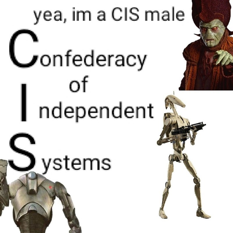 dank - Cartoon - yea, im a CIS male C onfederacy of ndependent ystems