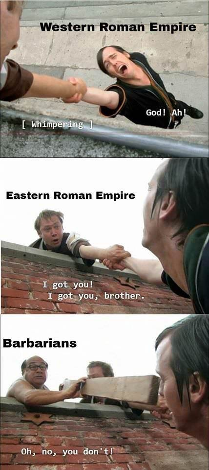 Arm - Western Roman Empire God! Ah! Whimpering 1 Eastern Roman Empire I got you! I got you, brother Barbarians Oh, no, you don't!