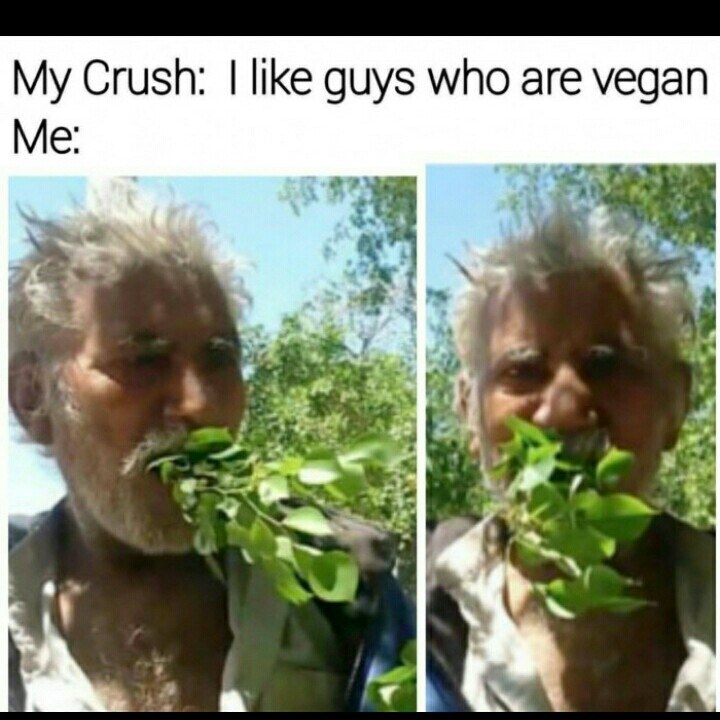 Organism - My Crush: I like guys who are vegan Мe: