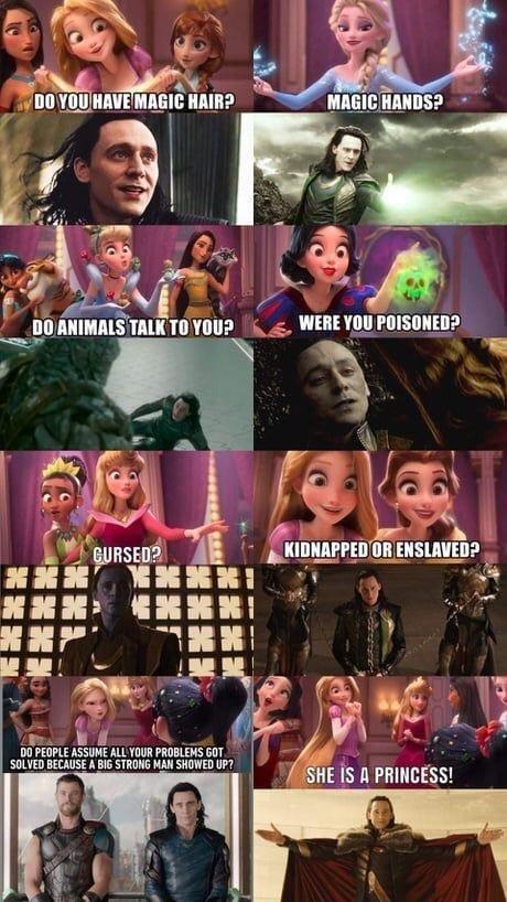 funny multi panel guide to disney princess