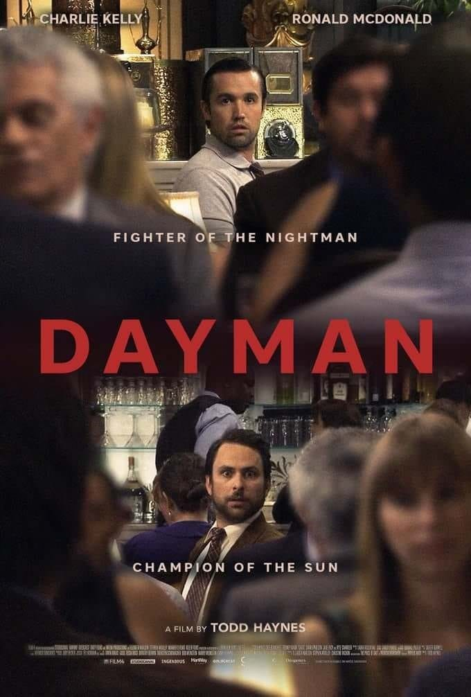 Movie - CHARLIE KELLY RONALD MCDONALD FIGHTER OF THE NIGHTMAN DAY MΑΝ CHAMPION OF THE SUN A FILM BY TODD HAYNES A E FILM4 S INGENIOUS Hryea.acera