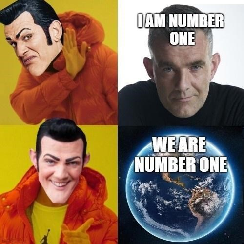 wholesome meme about Stefan Karl Stefansson saying that we are all number one
