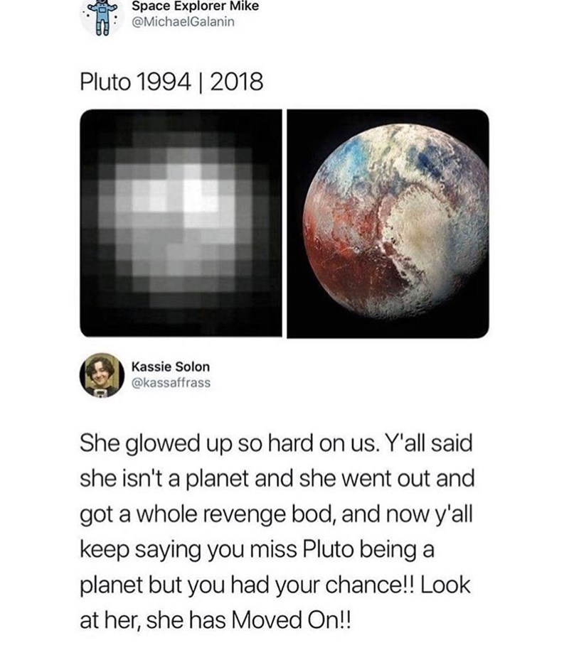 Funny tweet about pluto.