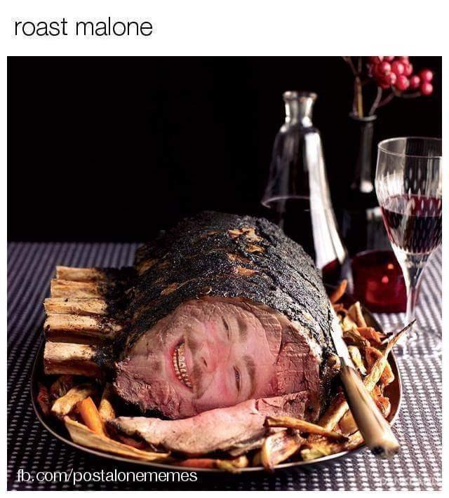 post malone meme - Flesh - roast malone fbcom/postalonememes