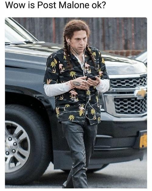 post malone meme - Street fashion - Wow is Post Malone ok?